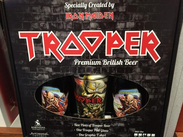 Cappy's: #IronMaiden Trooper gift sets include 2 pints of t ...