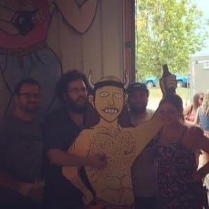 Me with the guys from Hoof Hearted!